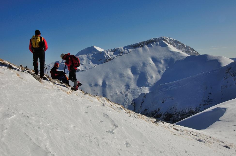 Alpinismo invernale sul Monte Bove
