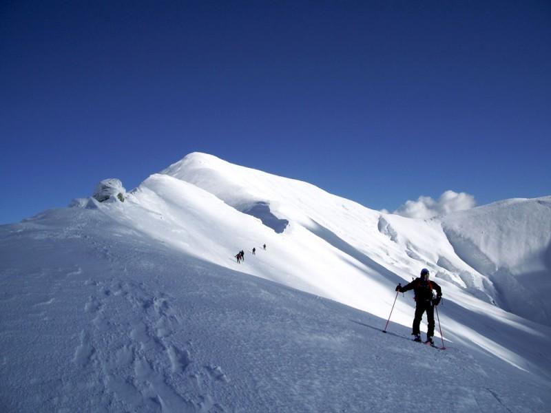 La cima del Gorzano dalla Cresta Ovest