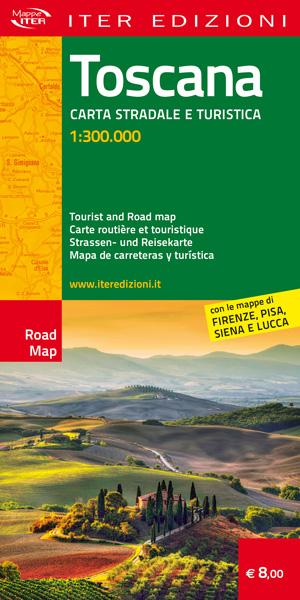 Mappa Toscana carta stradale turistica