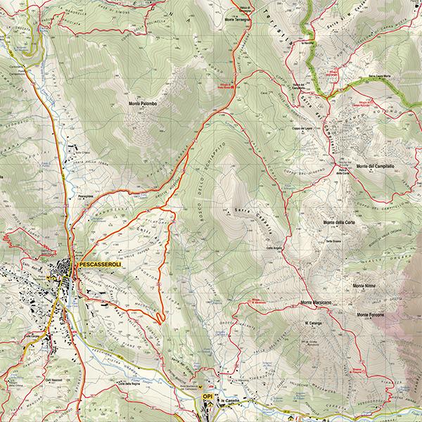 Abruzzo Cartina Geografica Dettagliata.Parco D Abruzzo 1 25 000