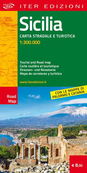 mappa Sicilia carta stradale turistica