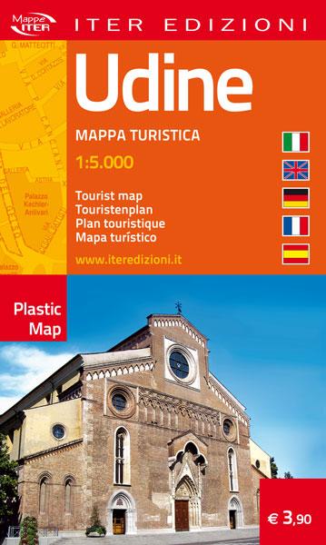 Udine Cartina.Mappa Udine La Cartina Turistica Antistrappo E Tascabile