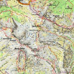 mappa del monte velino