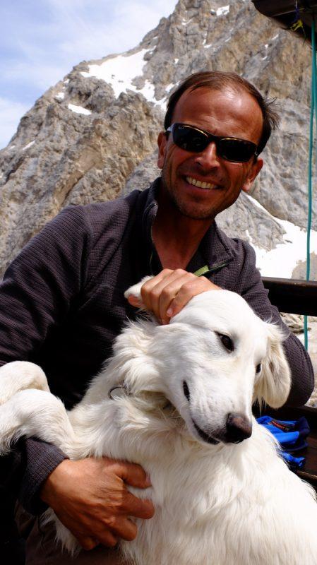 Luca Mazzoleni gestore del Rifugio Franchetti