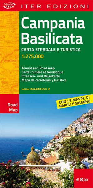 Campania e Basilicata carta stradale e turistica