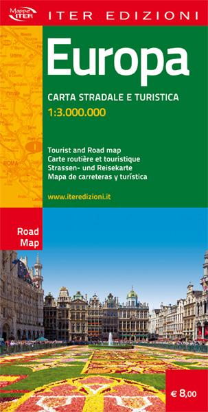 Europa carta stradale e turistica